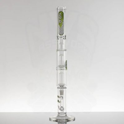 ZOB 24in Stemless Double UFO - Black Zob Green Outline