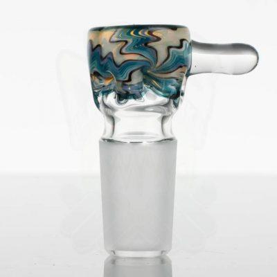 Liberty Glass Worked Martini Slide 18mm - Light Trans Green Blues Purple Black 2 - 867391 - 52 - 1.jpg