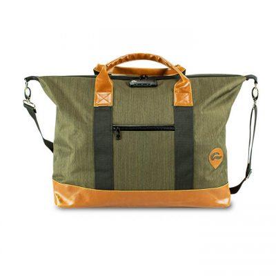 Skunk Weekender - Green Brown Leather