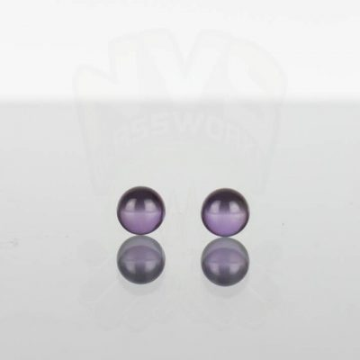 Ruby Pearl Co - Purple Sapphire Pearls 5mm - 2 pack