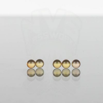Ruby Pearl Co - Yellow Sapphire Pearls 3mm - 5 pack