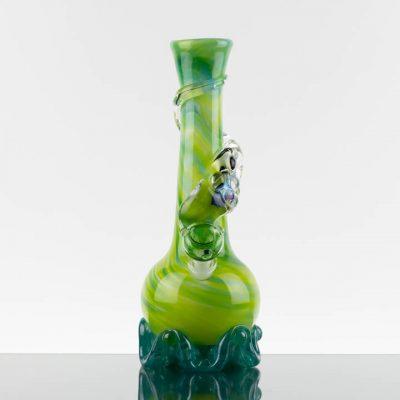 Noble Glass - 11.25in Green White - Clear Dichro Wrap - Aqua Base - 869277 - 100 - 1.jpg