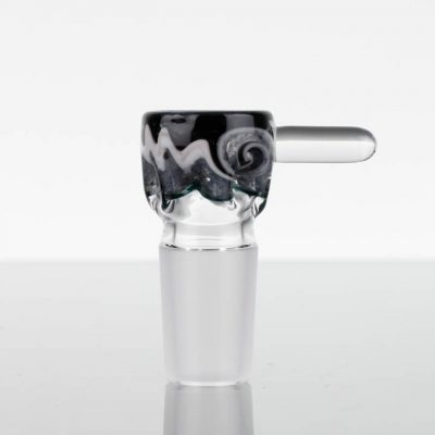Liberty Glass Worked Martini Slide 18mm - Black White Grey