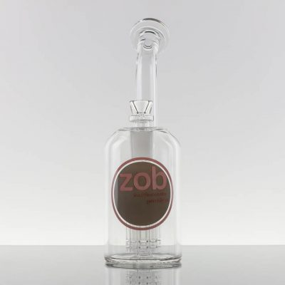 ZOB - Large 8 Arm Bubbler - Red Grey Circle - 869317 - 240 - 1.jpg