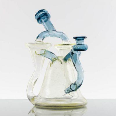 Manchild Glass Double Spinner Recycler - Nova (UV) - Atomic Stardust (UV) 869715-650-1