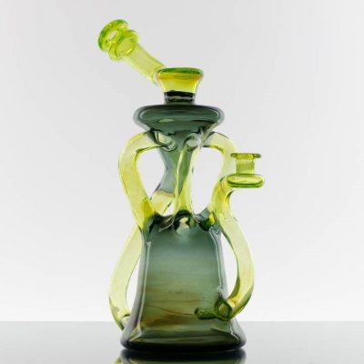 Manchild Glass Quad Uptake Recycler - Blue Slyme - Slyme 869709-495-1