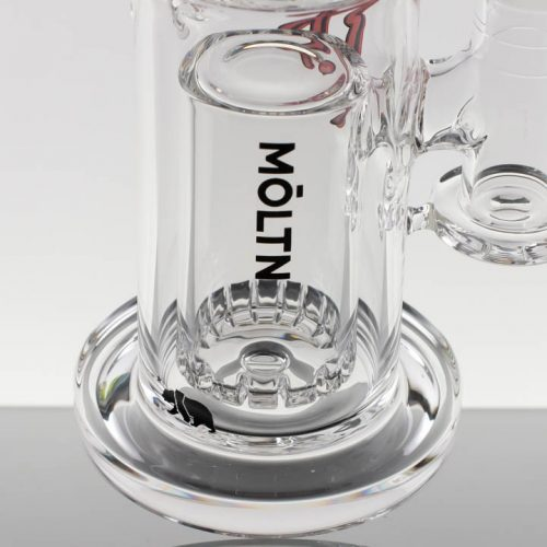 Moltn Glass 80mm Double Can - Red