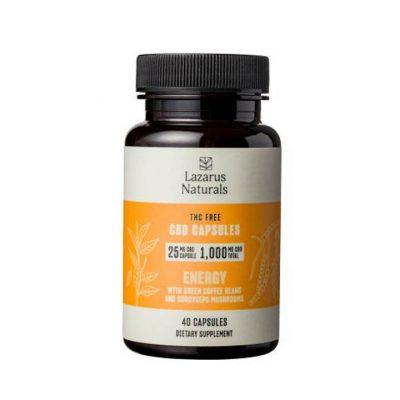 Lazarus Naturals ENERGY 25mg CBD Capsules - 40 count 810061152170-32-