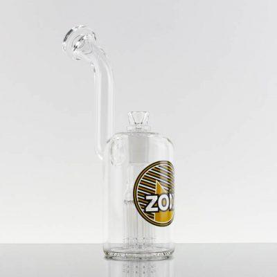 ZOB - Large 8 Arm Bubbler - Yellow Black Stripes 869747-240-1